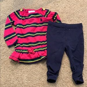 Baby girls Ralph Lauren outfit size 6month